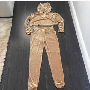 New with Tags champagne tracksuit